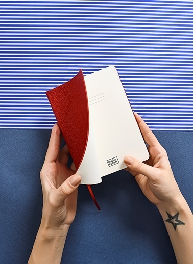 Leather & Paper Flotter Deri Defter 12x17 Kırmızı